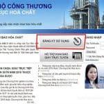 Hướng dẫn sơ bộ về đăng ký và khai báo hóa chất qua mạng
